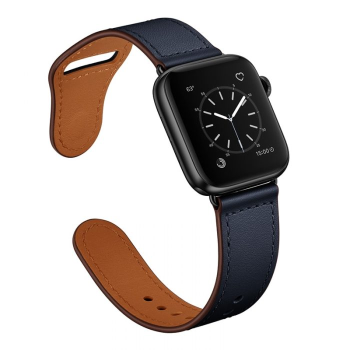 Leather watch strap for Apple and Samsung Watches