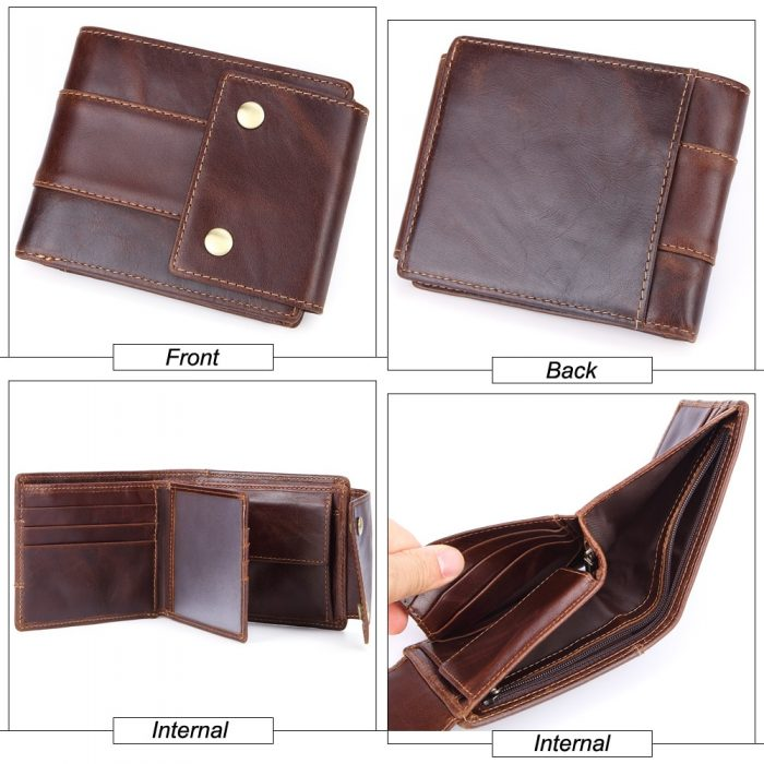 High Quality brown leather wallet