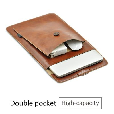 Double Leather Layer Laptop Bag for Macbook