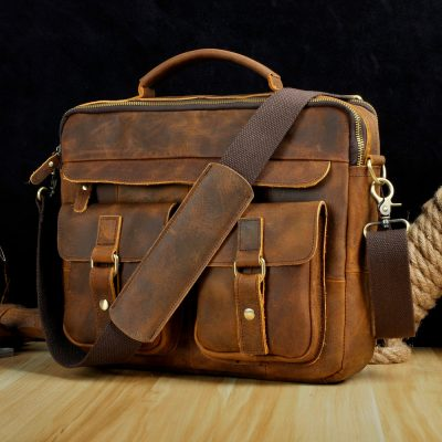 Real Leather Business Briefcase