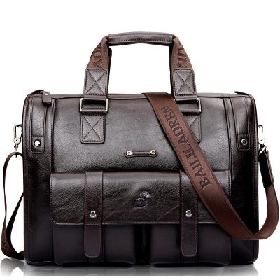 Premium Leather Business Briefcase for Men