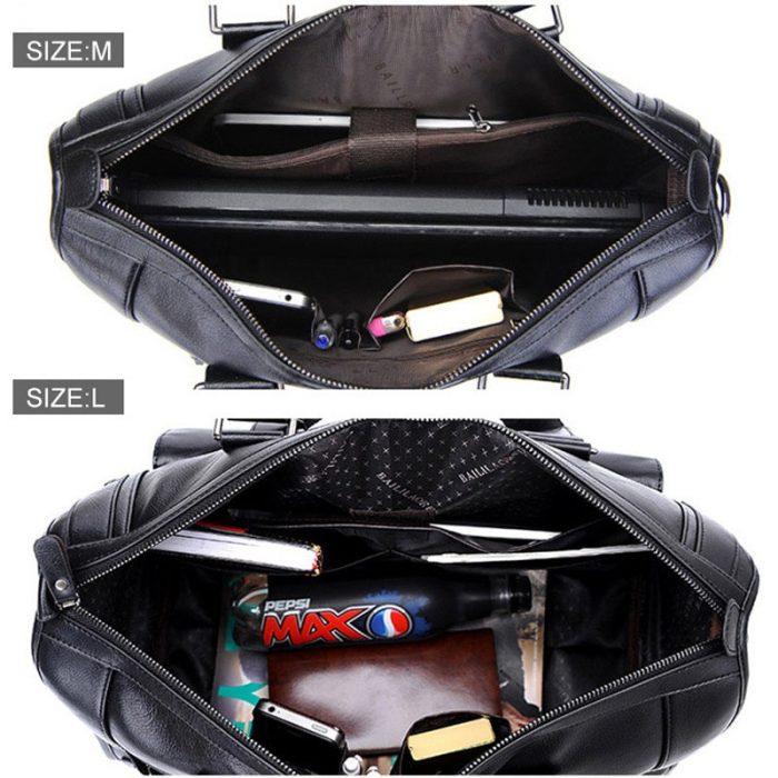 Premium Leather Business Briefcase for Men