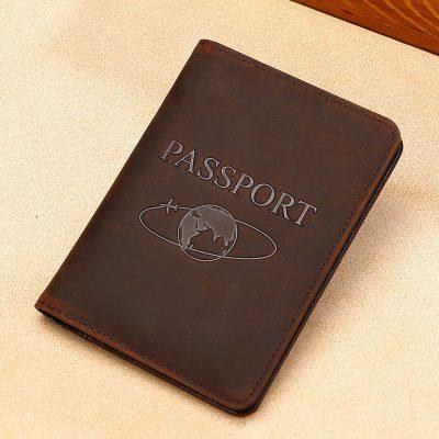 Premium Cowhide Leather Unisex Passport Cover