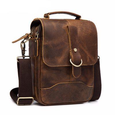 Premium Real Leather Vintage Shoulder Bag for Men