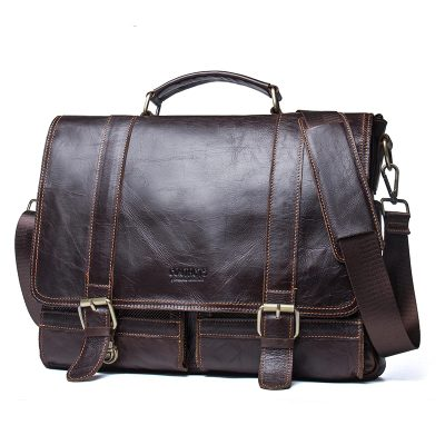 Premium Genuine Leather Business Briefcase for Men