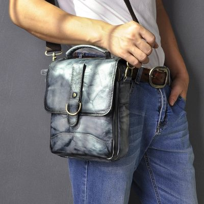 Premium Leather Crossbody Bag for Men