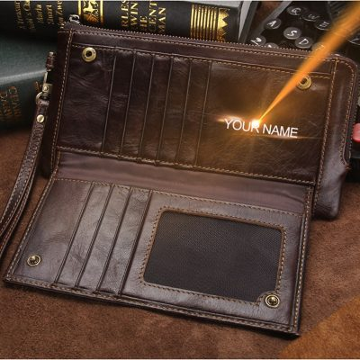 Genuine Leather RFID Blocker Men's Wallet