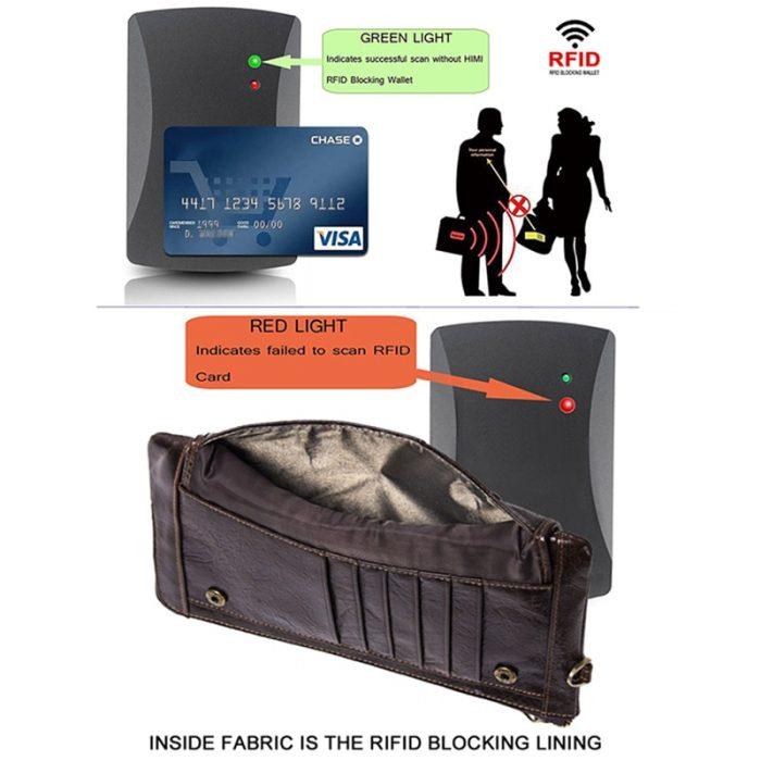 Genuine Leather RFID Blocker Men's Wallet