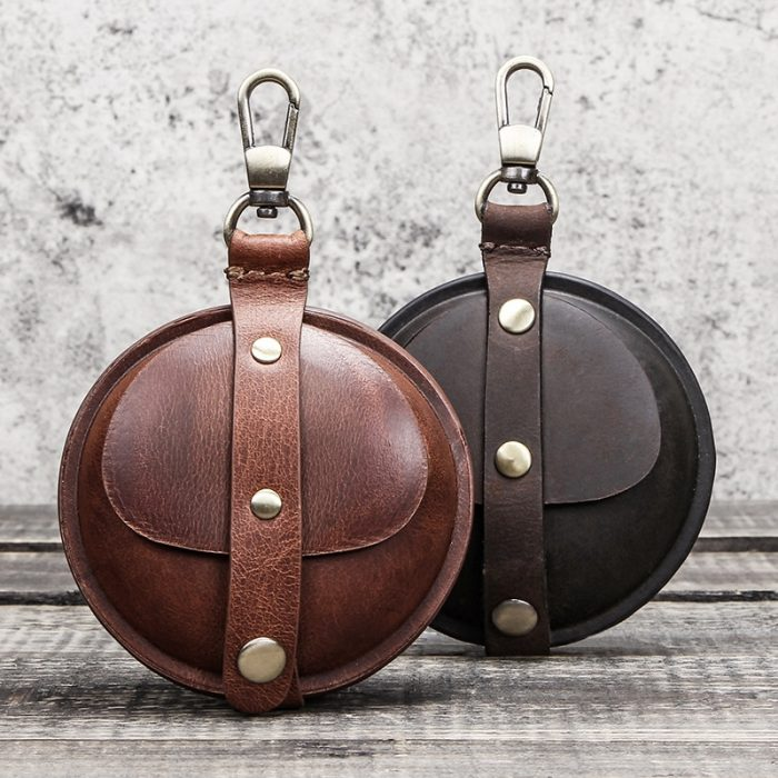Premium Leather Vintage Coin and Earphone Mini Wallet