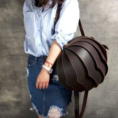 Handmade Vintage Leather Backpack for Women