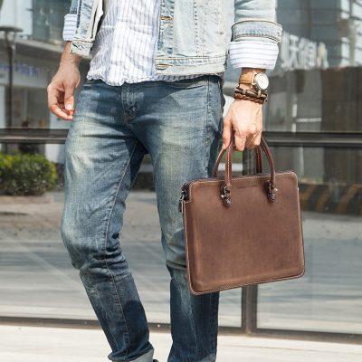 """Premium Genuine Leather 13.3"""" Laptop Bag"""