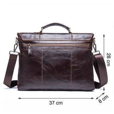 Premium Genuine Leather Business Briefcase for Men